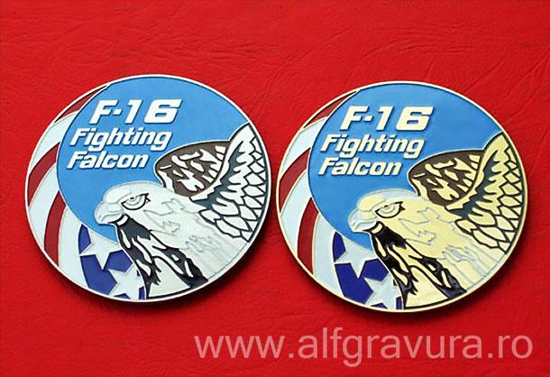 Emblema F16 gravata negativ