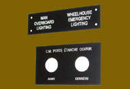 Masti butoane aluminiu negru