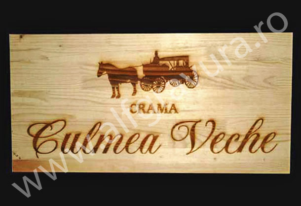 Gravura LASER lemn