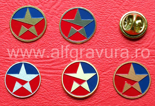 Insigna pin metalica rotunda