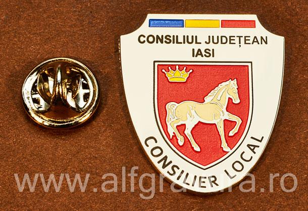 Insigna placata cu nichel Consilier Local Iasi