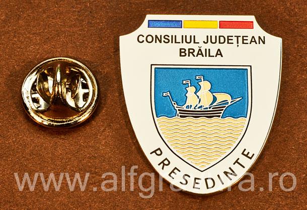 Insigna placata cu nichel Presedinte Consiliul Local Braila