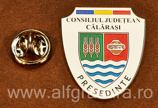 Insigna placata cu nichel Presedinte Consiliul Local Calarasi
