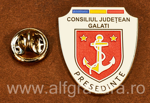 Insigna placata cu nichel Presedinte Consiliul Local Galati