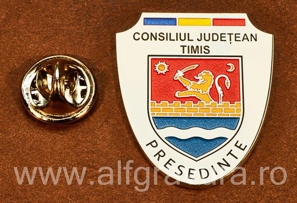 Insigna placata cu nichel Presedinte Consiliul Local Timis