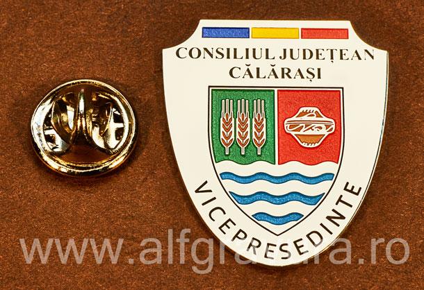 Insigna placata cu nichel Vicepresedinte Consiliul Local Calarasi