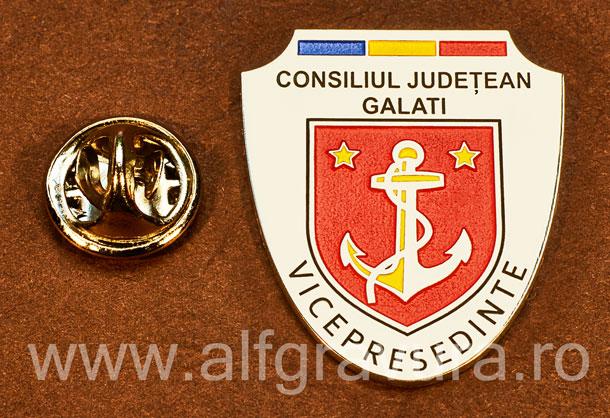 Insigna placata cu nichel Vicepresedinte Consiliul Local Galati