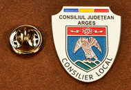 Insigne Placate Nichel Consilier Local Arges