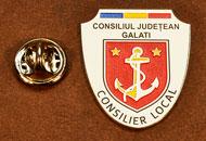Insigne Suflate Nichel Consilier Local Galati