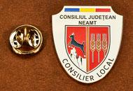 Insigne Nichelate Consilier Local Neamt