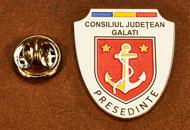 Insigne Suflate Nichel Presedinte Consiliul Local Galati