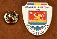 Insigne Nichelate Vice-Presedinte Consiliul Local Timis