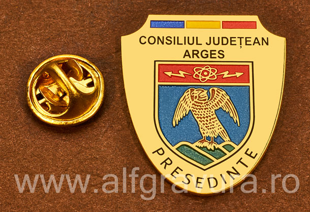 Insigna placata cu aur Presedinte Consiliul Local Arges