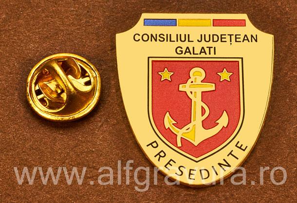 Insigna placata cu aur Presedinte Consiliul Local Galati