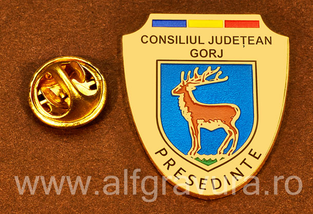 Insigna placata cu aur Presedinte Consiliul Local Gorj