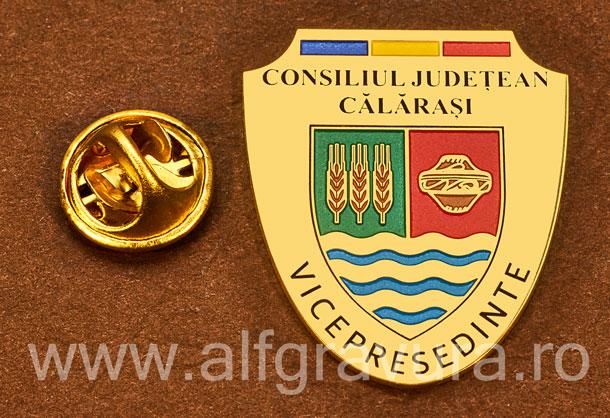 Insigna placata cu aur Vicepresedinte Consiliul Local Calarasi