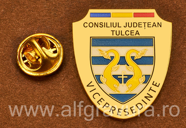 Insigna placata cu aur Vicepresedinte Consiliul Local Tulcea