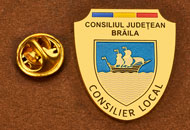 Insigne Placate Aur Consilier Local Braila
