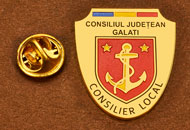 Insigne Suflate Aur Consilier Local Galati