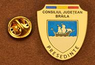 Insigne Placate Aur Presedinte Consiliul Local Braila