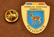 Insigne Suflate Aur Presedinte Consiliul Local Dambovita