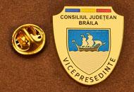 Insigne Placate Aur Vice Presedinte Consiliul Local Braila