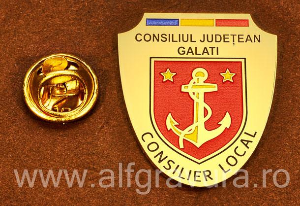 Insigna gravata alama Consilier Local Galati