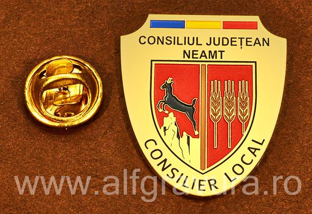 Insigna gravata alama Consilier Local Neamt