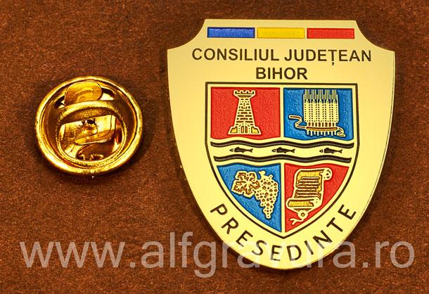 Insigna gravata alama Presedinte Consiliul Local Bihor