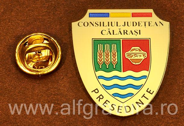 Insigna gravata alama Presedinte Consiliul Local Calarasi