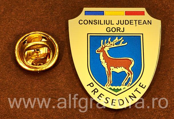 Insigna gravata alama Presedinte Consiliul Local Gorj