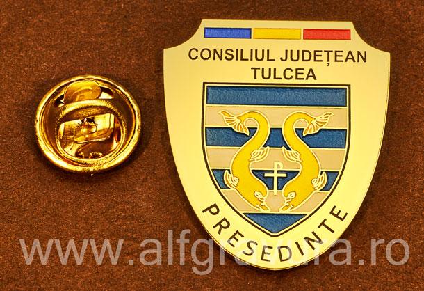 Insigna gravata alama Presedinte Consiliul Local Tulcea