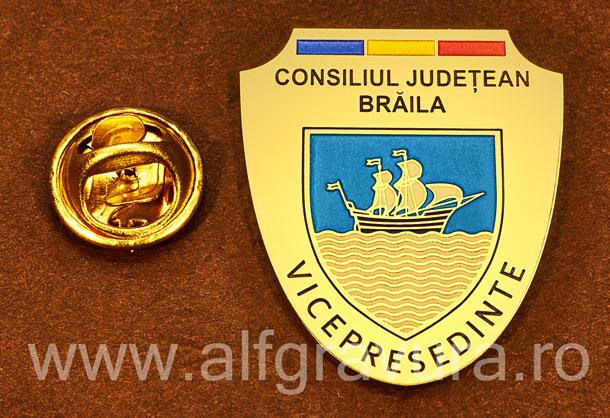Insigna gravata alama Vicepresedinte Consiliul Local Braila