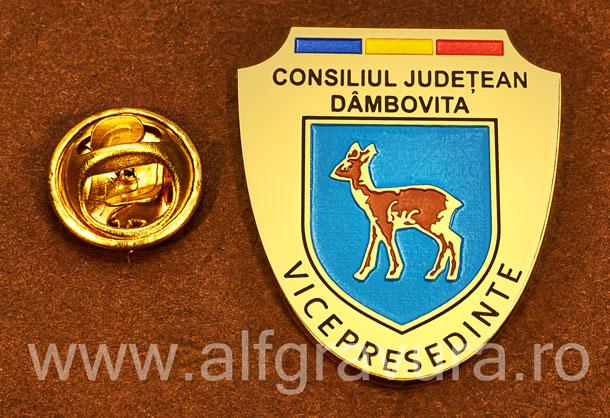 Insigna gravata alama Vicepresedinte Consiliul Local Dambovita