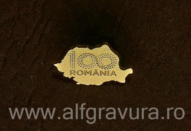 Insigna harta 100 Romania alama