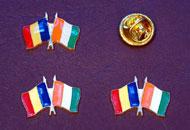 Insigne drapel Romania Costa de Fildes