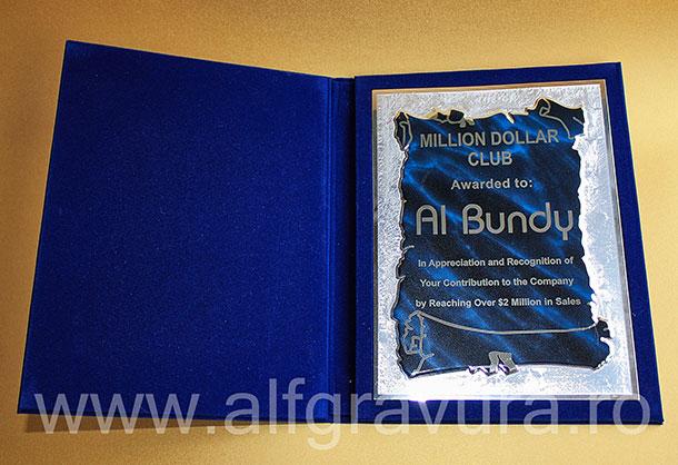 Mapa Plus Albastru Cu Placheta Pas02 Mapa Personalizata Plus Albastru