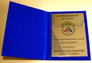 Diplome plus albastra placheta policromie