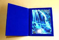 Plachete personalizate in mape albastre catifea