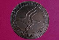 Medalii gravate 3D patinate