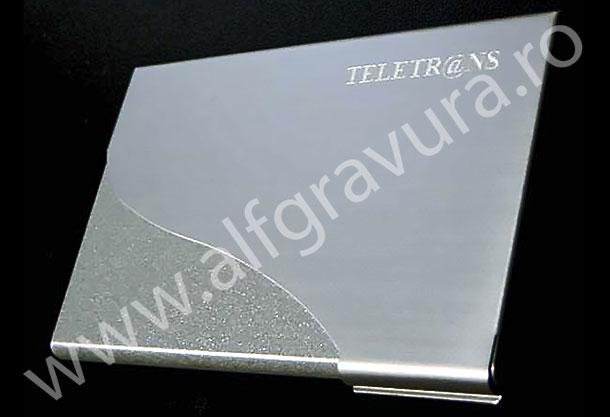 Gravare port card metalic