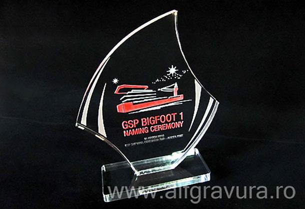 gravura laser trofeu  acril