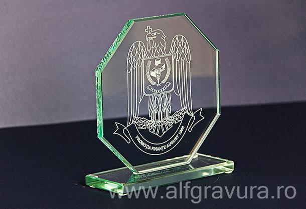 Gravura laser trofeu sticla